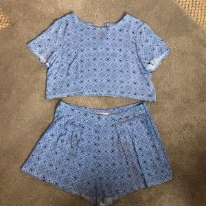 Rumor boutique for LF blue shorts set, size small